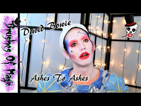 David Bowie As Pierrot The Clown Ashes To Ashes Makeup Tutorial | @brushesofmagic