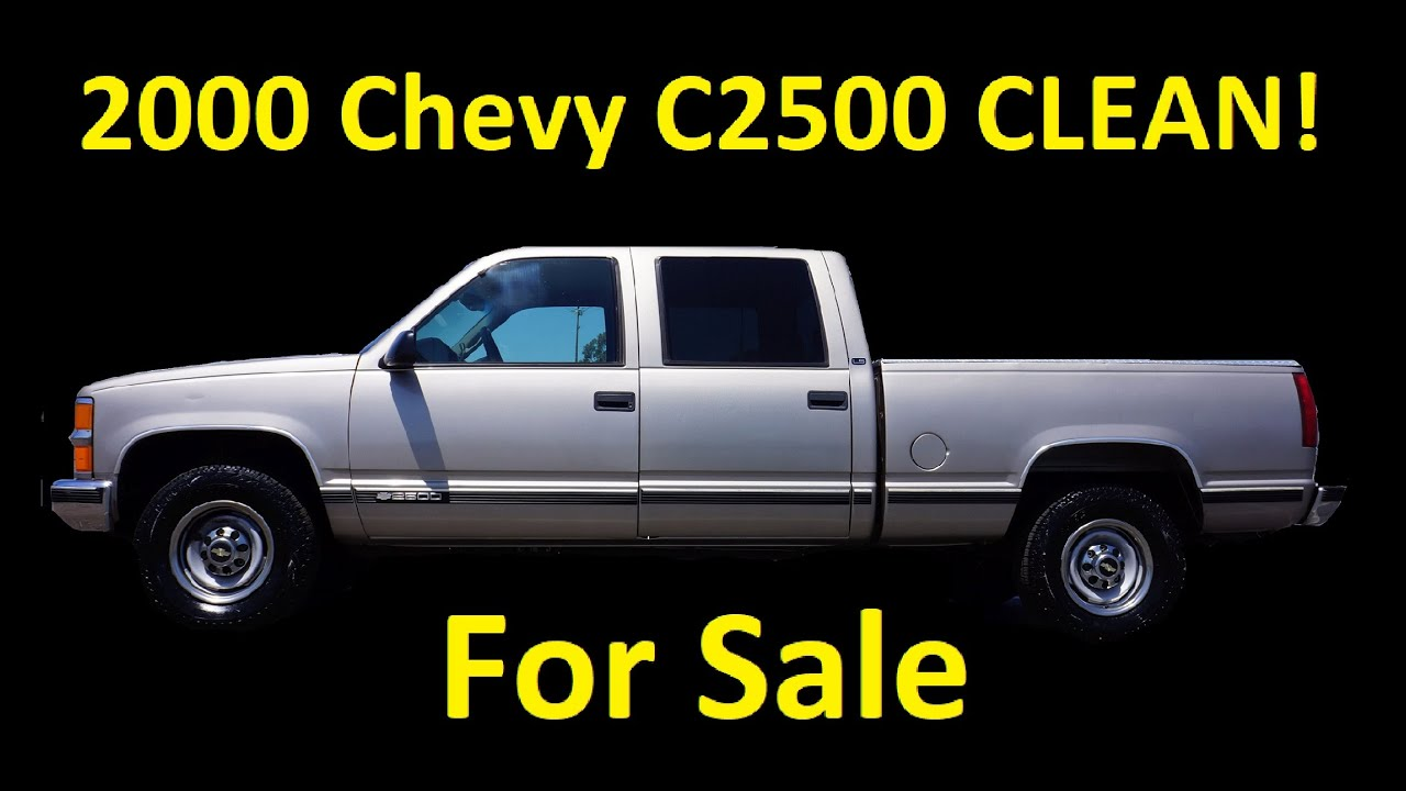 2000 CHEVROLET 2500 SILVERADO FOR SALE ~ GMT400 C2500 CREW CAB PICKUP TRUCK  VIDEO