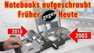 Notebooks aufgeschraubt | Früher gegen Heute | Heizung gegen Hightech | Energieverschwendung - [4K]