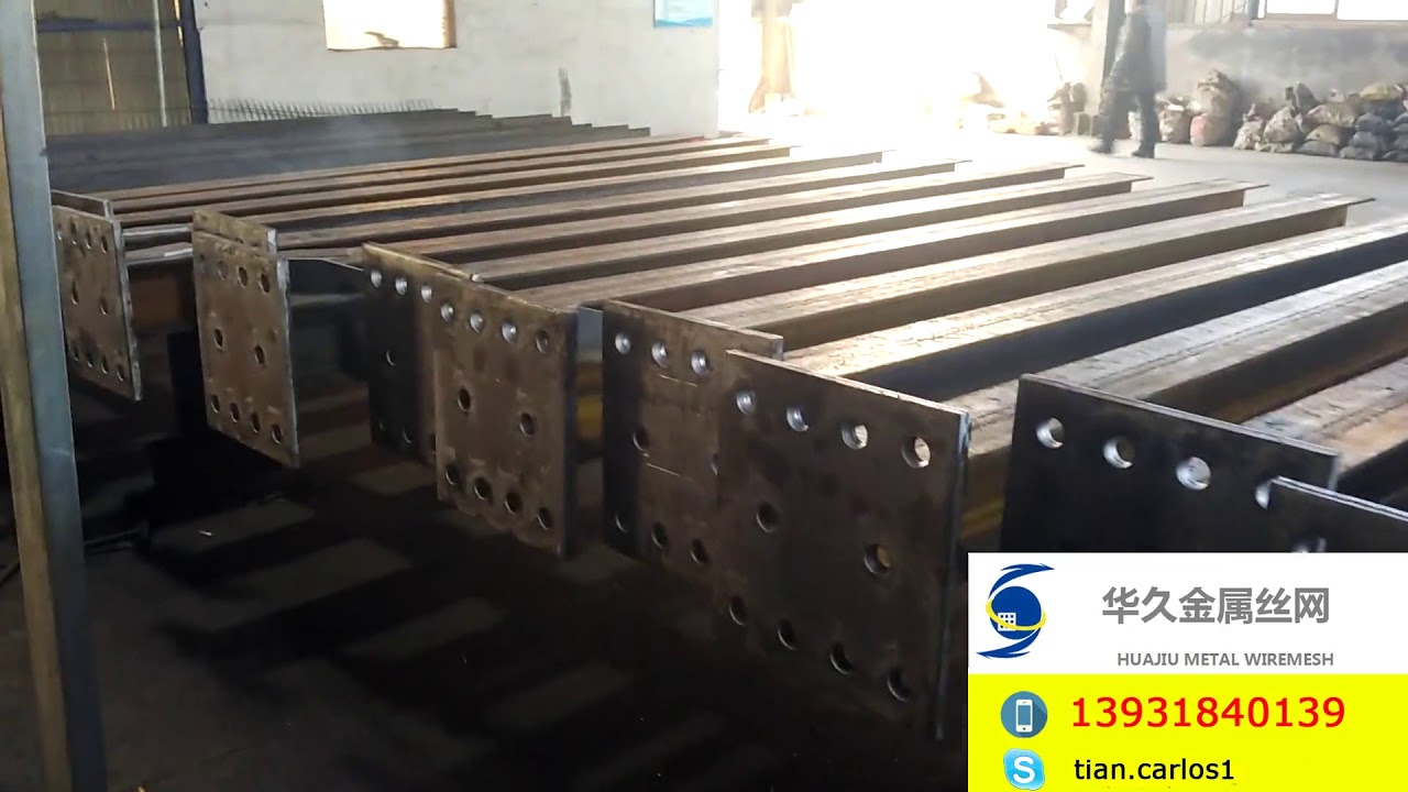 Steel H Beam Steel Base Plate Welding 2 Youtube
