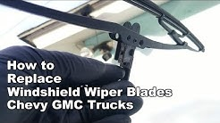 How to Change Windshield Wipers Chevy Silverado Colorado Avalanche GMC Sierra Canyon (Easy)