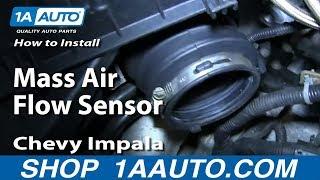How To Install Replace Mass Air Flow Sensor 2006-08 Chevy Impala