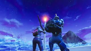 Rocket ship Launching in Fortnite and getting attacked by Aliens