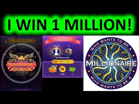 WHO WANTS TO BE A MILLIONAIRE MOBILE GAME! I WIN 1 MILLION FIRST ROUND!