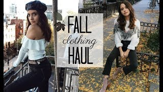 FALL TO WINTER TRY-ON CLOTHING HAUL