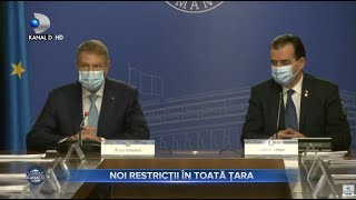 Stirile Kanal D (07.11.) - NOI RESTRICTII IN TOATA TARA dupa un nou record negativ | Editie de pranz