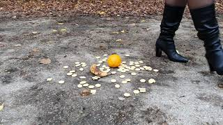 Crushing Cookies Orange And Banana In Boots Preview