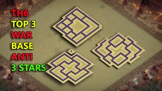 Clash Of Clans - TOP 3 TH6 (Town Hall 6) WAR BASE 2016 ♦ Best TH6 War Base
