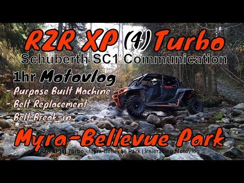 "RZR XP(4) Turbo ""Purpose Build Machine, Belt Break-In"" Myra-Bellevue Park | Irnieracing Motovlog"