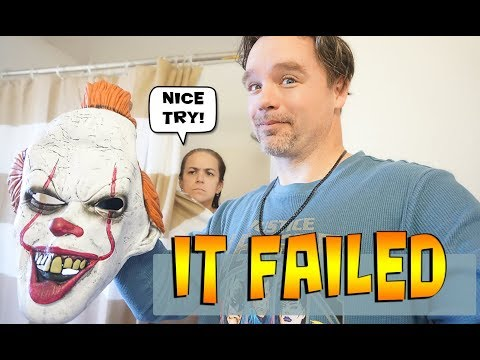 FAILED IT PRANK ON WIFE IN SHOWER JUMP SCARE
