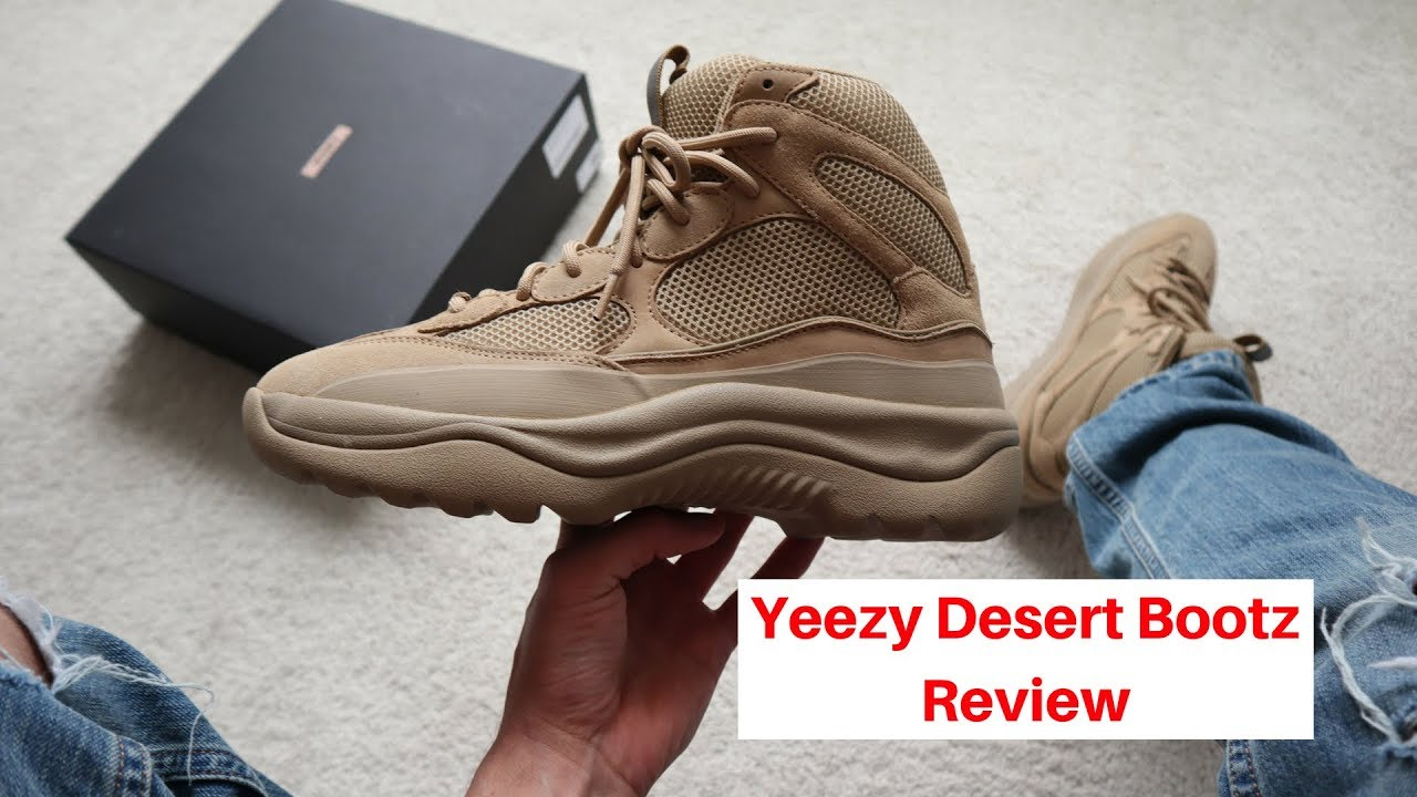 38804ace1e0 Yeezy Desert Boot Taupe Review + On Foot !!! - YouTube