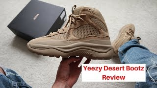 yeezy desert boot taupe review on foot