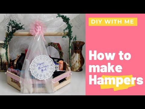 Hampers | Gift Hamper | Hamper Making complete tutorial | How to make hamper at home | Tray hamper |