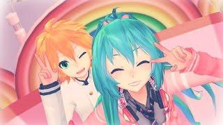 【Miku & Len】Happy synthesizer【MMD PV】