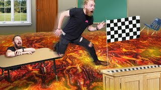 Don't Fall In The Lava Challenge! | Hot Lava