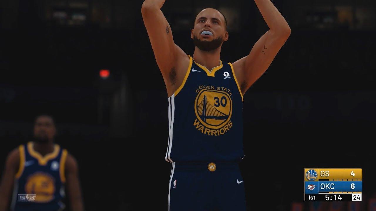 NBA 2k19  Golden State Warriors vs Oklahoma City Thunder  1080p 60FPS  06b4ec3e2