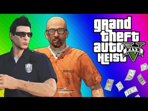 Thumbnail: GTA 5 Heists #1: Undercover Cops & Prison Break! (GTA 5 Online Funny Moments) [Part 2]