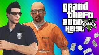 gta 5 heists 1 undercover cops prison break gta 5 online funny moments part 2