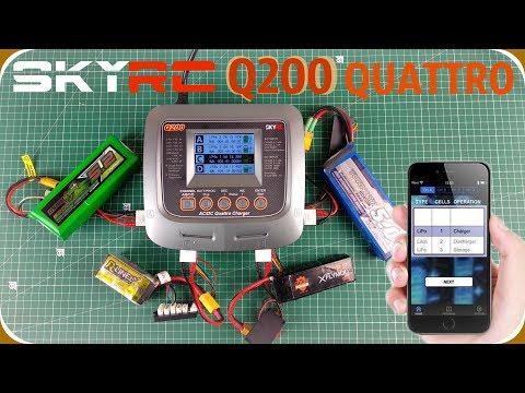 SkyRC Q200 Заряжай 4 аккумулятора одновременно! Управляй по Bluetooth!