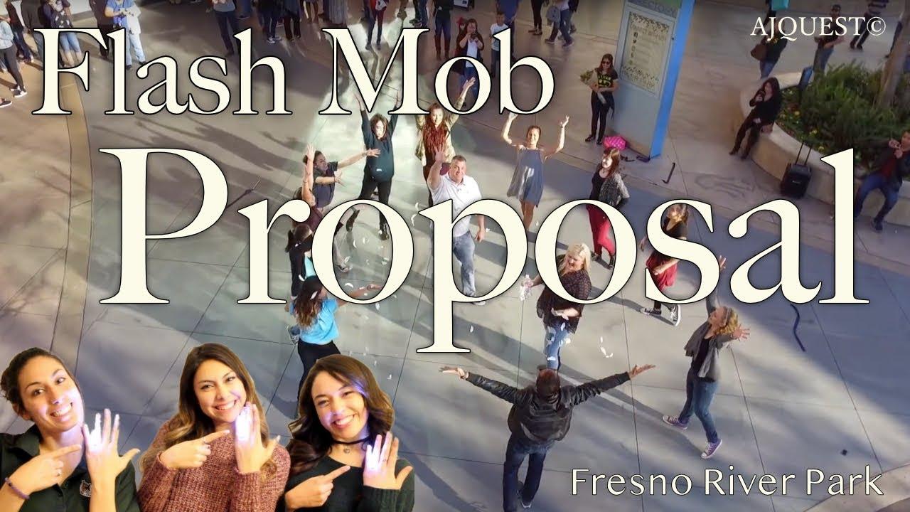 7a61fb4d0a47e3 Surprise Wedding Proposal Flash Mob