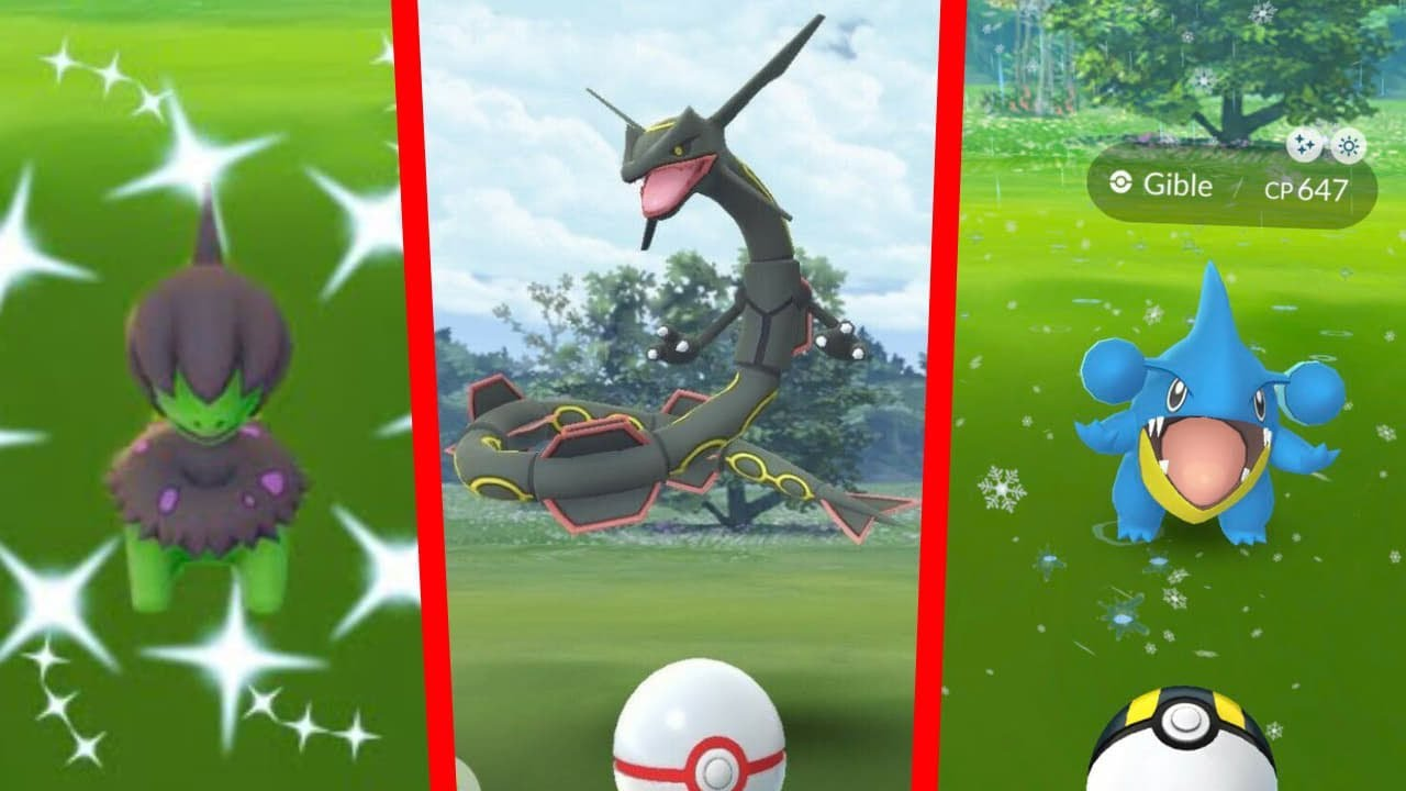EVENTO DE RAYQUAZA SHINY - GIBLE Y DEINO SHINY - POKEMON GO!