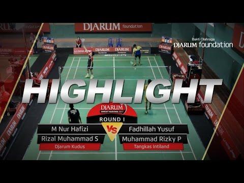M Nur Hafizi/Rizal Muhammad S (Djarum Kudus) VS Fadhillah Y/M Rizky P (Tangkas Intiland)