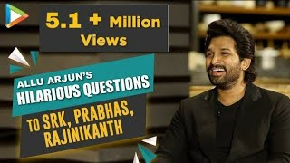 LOL- Allu Arjun's HILARIOUS questions for Prabhas, Shah Rukh Khan &  Rajinikanth | Rapid Fire