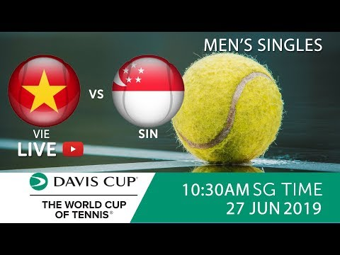 Vietnam 🇻🇳 vs 🇸🇬 Singapore Singles Match 1 | Davis Cup Asia Oceania Group III