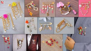 Download 15+ Jewellery Pin!! Designer Safety Pin Brooch For Blazer, Suit, GownDresses, Saree & Many More