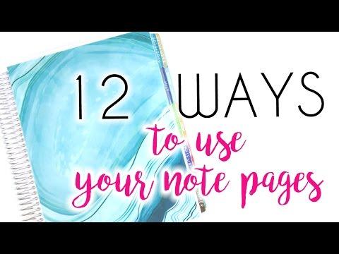 VIDMAS DAY 22  12 WAYS TO USE THE NOTES IN YOUR ERIN CONDREN  POPFIZZPAPER