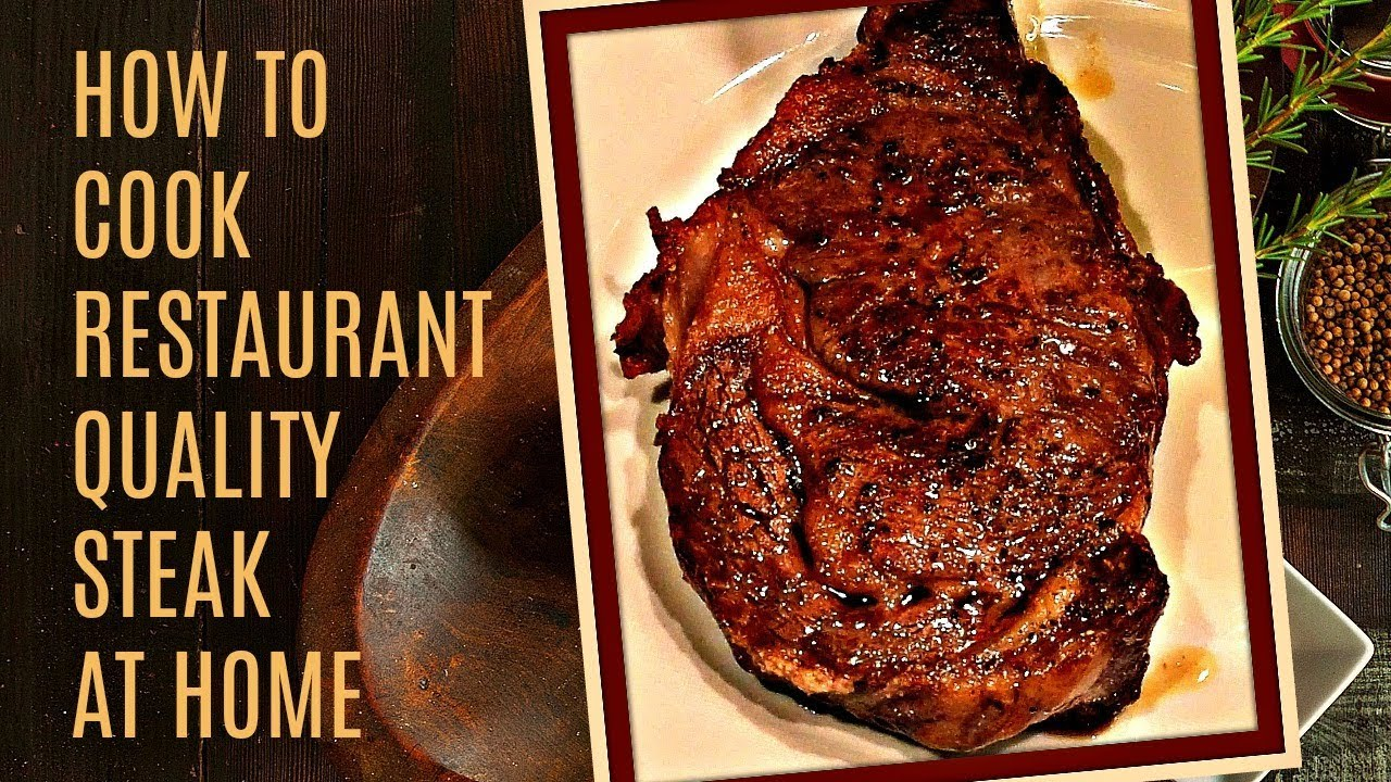 How To Cook A Perfect Steak  In The Oven And Pan Seared On The Stove   Easy To Make Recipe