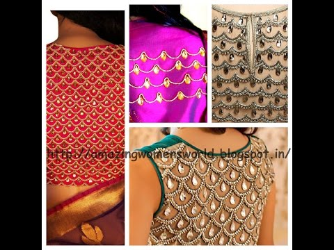 HOW TO MAKE STONE LINE DESIGNING ON FABRICS FOR BLOUSE/CROP TOPS - DIY