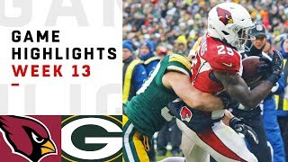 Cardinals vs. Packers Week 13 Highlights
