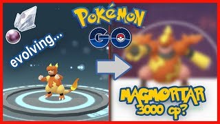 Pokémon GO Evolution 🔥 Magmar to MAGMORTAR: Sinnoh Stone