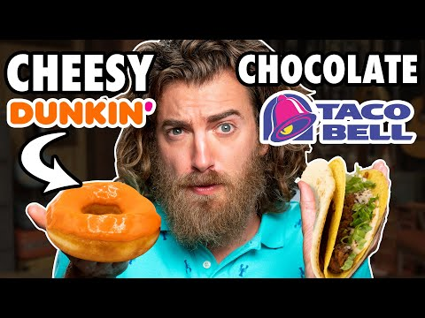 Cheesy Chocolate Food vs. Chocolate Cheesy Food Taste Test