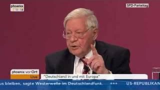 Helmut Schmidt 2011 SPD-Parteitag in Berlin