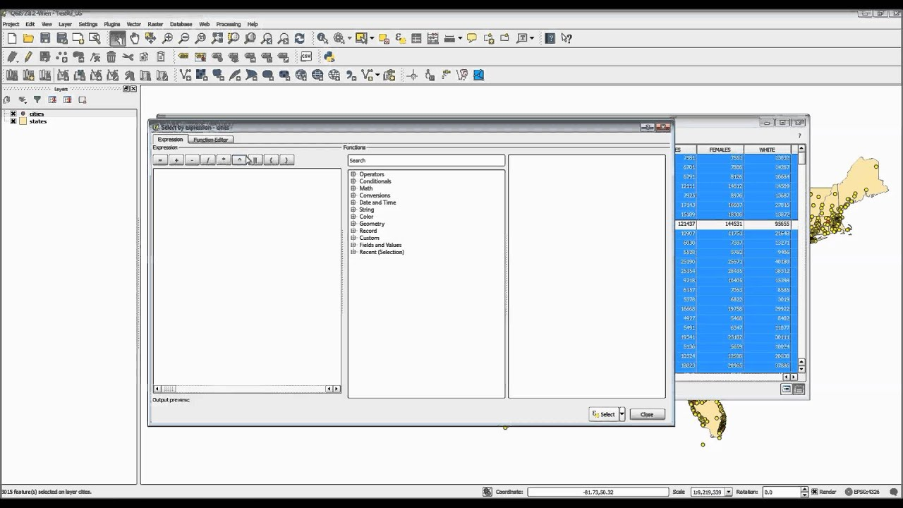 QGIS -- Understanding the Attribute Table