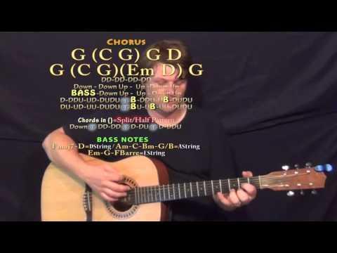 I'm to Blame (Kip Moore) Guitar Lesson Chord Chart