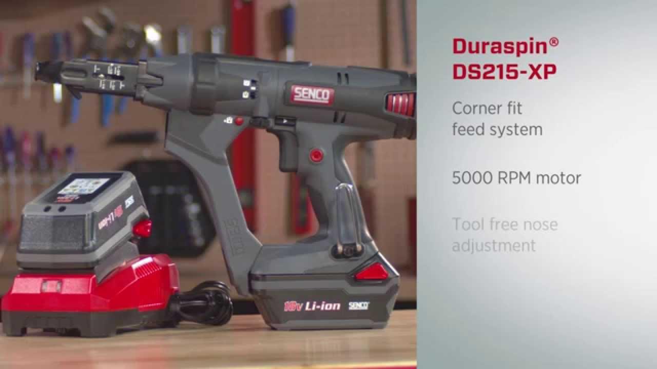 Senco Screwgun 2 Cordless Dura-Spin Auto-Feed Drywall 5000RPM 6000