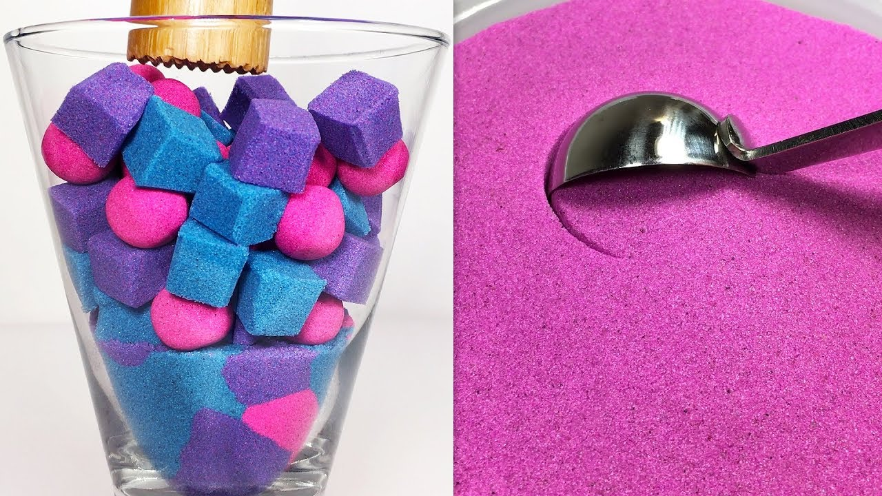 Very Satisfying and Relaxing Compilation 148 Kinetic Sand ASMR