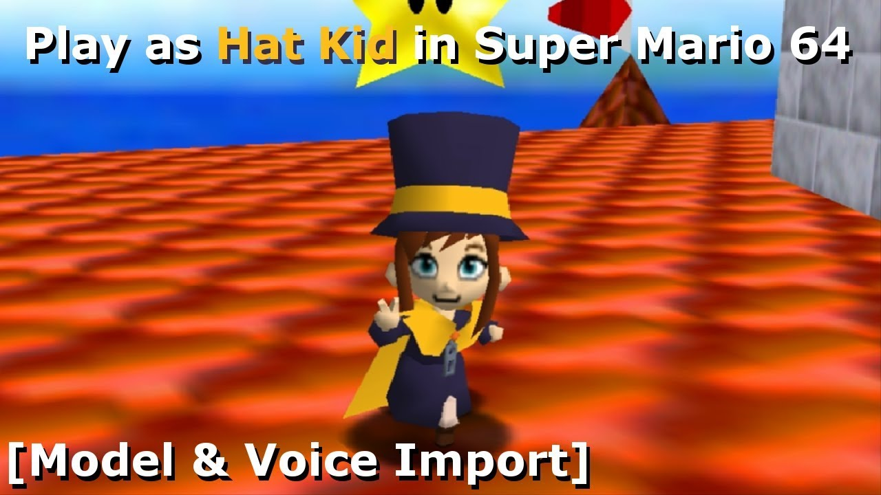 Play as Hat Kid in Super Mario 64 [Model Import] (Christmas 2018