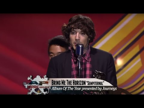 APMAs 2014: Bring Me The Horizon's Oli Sykes wins Album Of The Year with speech about his addiction