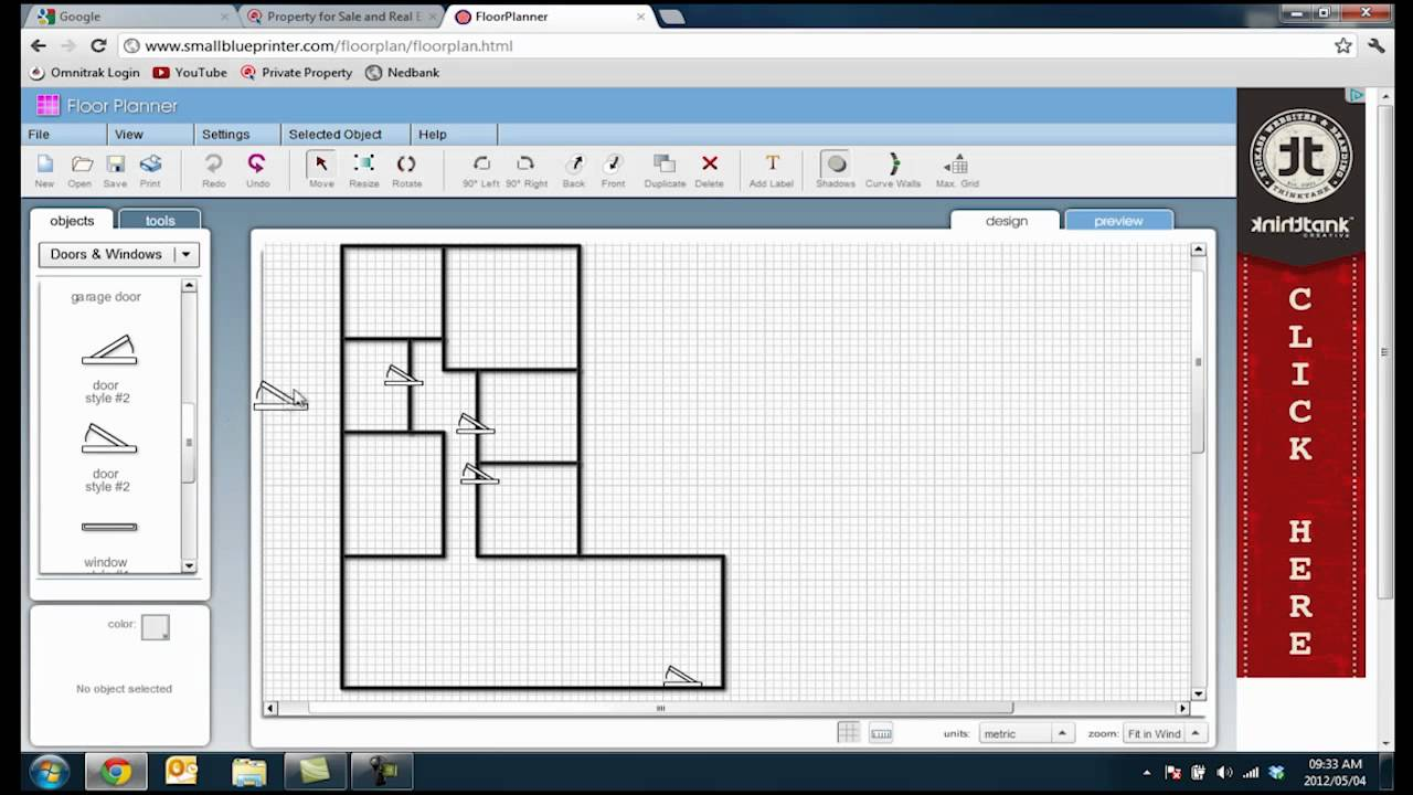Online floor youtube for Interior design floor plan software