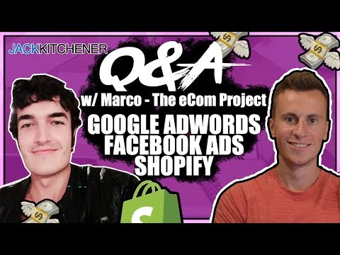 Q&A w Marco Rodriguez  The eCom Project Google AdWords, Facebook Ads, Shopify Dropshipping