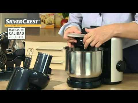 Procesador de alimentos retro lidl espa a youtube for Robot de cocina silvercrest