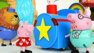 Peppa Pig बच्चों के लिए खिलौना चिड़ियाघर पशु सीखना वीडियो! (Hindi)