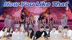 블랙핑크 'How You Like That' 뮤비를 보는 남녀 댄서의 반응 차이 | BLACKPINK 'How You Like That' MV REACTION