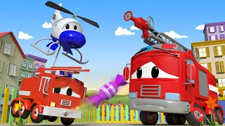 đội xe tuần tra - Quá nhiều kẹo - Thành phố xe 🚓 🚒 những bộ phim hoạt hình về xe tải