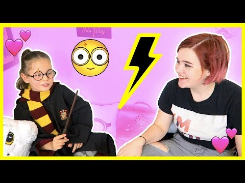 OUR TEEN GIVES OUR KID A BEDROOM MAKEOVER ⚡HARRY POTTER THEMED