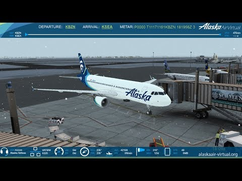 P3DV4: Alaska Airlines AS2244 | Bozeman to Seattle | FSLABS A320 | VATSIM